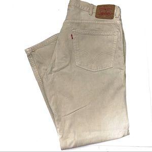 Levi's 505 Red Tag Men's Khaki Classic Jeans 40x30